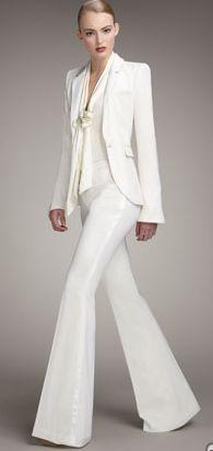 Rachel Zoe - classic white suit