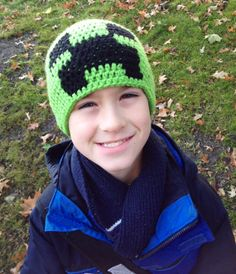 Minecraft inspired Beanie exploding by Brandylynncreations