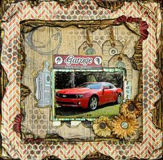 I Wanna Go Fast scrapbooking page by Lisa Gregory using Bobunny stencils and the Wild Card collection. #BoBunny @starsailor