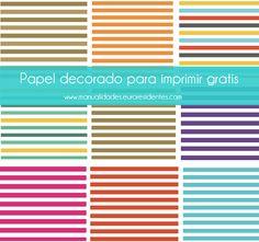 Rayas. Papel decorado. Scrapbook paper http://manualidades.euroresidentes.com/2014/04/papel-decorado-estampado-rayas.html