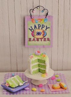 Miniature Easter Cake--cute!