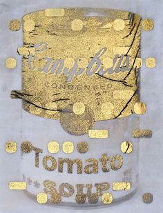 Gold Tomato Soup, by Bill Claps, gold foil on vellum