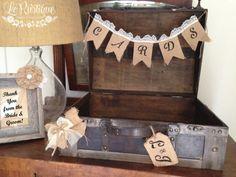 Love this. Wedding Card Box Vintage Suitcase Card Box Card