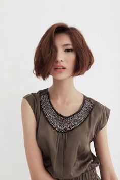 cute bob asian girl