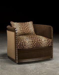 leopard print furniture images | Leopard Print Swivel Barrel Chair, Luxury Upholstered Furniture