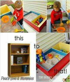 DIY kids sandbox
