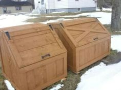 Free Wooden Octagon Garbage Box Plans