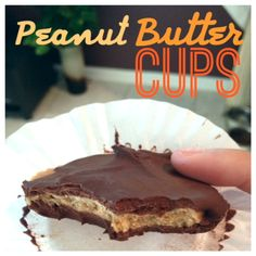 Skinny Peanut Butter Cups, made with Greek yogurt & protein powder #eatclean #peanutbutter #pb2recipes