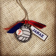 Custom volleyball necklace.