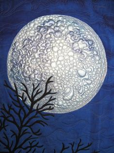 """I See the Moon"", quilting detail, Susan Brubaker Knapp"