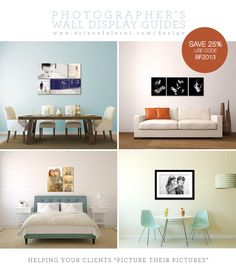 Biggest Discount I've ever offered on the Photographer's Wall Display guides! http://www.arianafalerni.com/design/2013/11/25-off-now-through-cyber-monday/ #blackfriday #photography