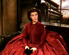 Vivien Leigh as Scarlett O'Hara in Gone With The Wind (1939).