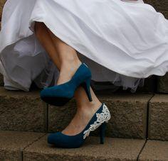 Blue Wedding Heel