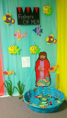 Bible Fun Zone Theme for my Sunday School Class. We will have this carnival type theme during the summer months. In this game, the kids will learn the names of the 12 disciples of Jesus.
