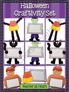 Halloween Craftivity Set! Enter for your chance to win 1 of 2.  Halloween Craftivity Set (42 pages) from Teacher at Heart on TeachersNotebook.com (Ends on on 10-1-2014)  Happy October!  Start the month with this cute craft set!  :)