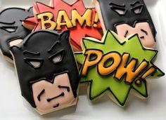 Easy Batman cookies
