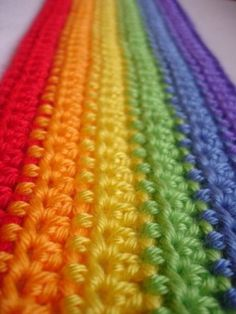 color burst crochet rainbow