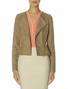 Peplum Moto Jacket from THELIMITED.com #TheLimited #LTDWellSuited