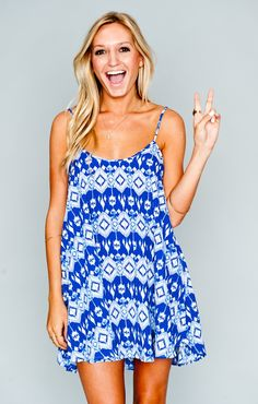 Show Me Your Mumu Bella Dress ~ Dakota Blue