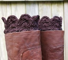 Boot Cuffs in Black Crochet Boot Toppers Boot Socks. $32.00, via Etsy.