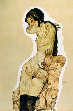 egon schiele... everything is so done....and while I am at it I also have one of Egon Schiele's prints for myself.