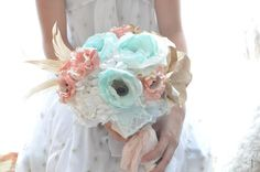 20 Mint Wedding Ideas: #1 - Wedding Bouquet (by Alternative Blooms) #handmade #wedding #mint