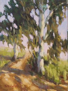 Landscape Oil Painting Impressionist California by MaryMulvihill, $100.00