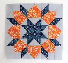 quiltblock, orang, blue, quilt blocks, swoon quilt
