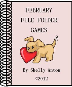 February Valentine's Day File Folder Games product from promotingsuccess on TeachersNotebook.com