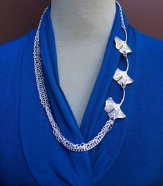 $19.00.  Ginkgo leaves necklace.  LOVE THIS.