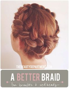 TBD braid for brunettes redheads  #hair #trends #braids #beauty #tips #spadelic