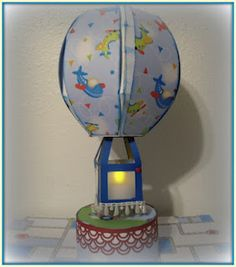 Monica created an awesome Hot Air Balloon using  the Spring Fling collection ~ www.svgattic.com
