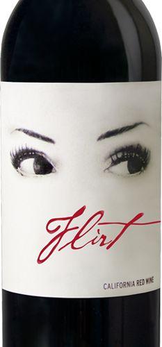 P22 Cezanne font on Flirt Wine