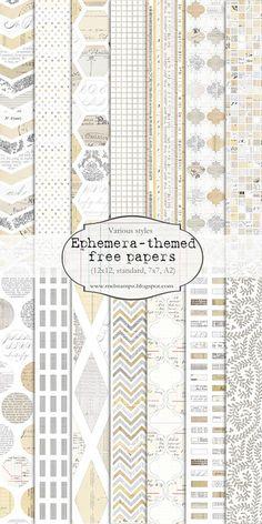 Free printable digital papers