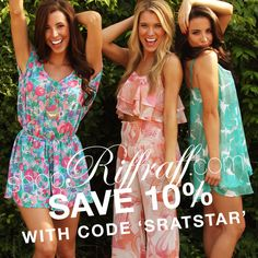 Looking for cute clothes to wear for Sorority Recruitment, work, class, parties, gameday, or a special occasion? Then, head on over to the boutique, Riffraff at shopriffraff.com to find the perfect outfit. Enter code SRATSTAR at checkout to receive 10% off your order. Code valid through July 1st. Free Shipping on all orders! #ShopRiffraff #RiffraffLove @Michelle Coleman Riffraff
