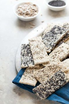 Seeded Crispbread Crackers Three Ways (Gluten-Free, Grain-Free, Vegan, Paleo)