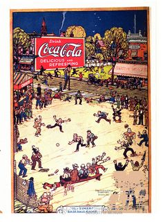 1921 June 2 Life -  'Delicious and Refreshing', 'Old Timer's Baseball Game'  Coca-Cola Advertisement  The Coca Cola Co., Atlanta, GA
