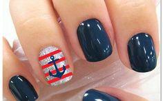 Sailor nails sailor nails, doabl nail, nail design, sailor fun, nail art, anchor