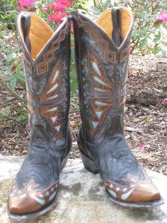 Rivertrail Mercantile - Old Gringo Monarca Vesuvio Black/Brass Cowgirl Boot, $560.00 (http://www.rivertrailmercantile.com/old-gringo-monarca-vesuvio-black-brass-cowgirl-boot/)