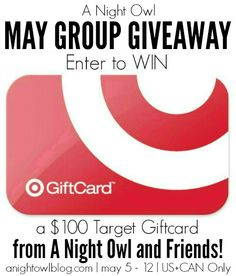May $100 Target Gift Card Giveaway - A Night Owl Blog
