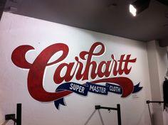 #carhartt #typography #red #script #handpainted