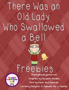 There was an old lady who swallowed a bell freebies