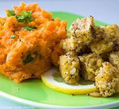 sweet_potato_mash and lemon pepper tempeh
