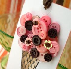 We think Scoops Waffle Cone would think this is sew cute! Button Decoration