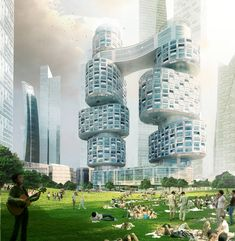 Asymptote architecture: velo towers - YIBD.