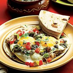 Mexican Eggs with Beans recipe