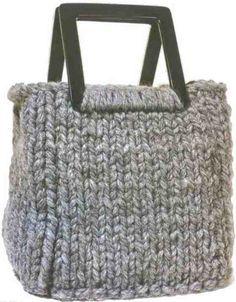 ... knit purs bolso knitting bag handmad bag knit bag pattern free