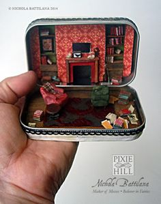 miniatur, altoid tin, the artist, sherlock holmes, bakers, 221b baker, altoids tins, baker street, thing