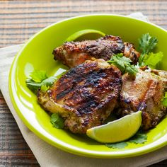 Coconut Cilantro Grilled Chicken - Egg Free, Nut Free, easily Nightshade Free