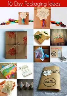 16 Packaging Ideas for Etsy Sellers - EverythingEtsy.com #etsy #wrapping #packaging #diy